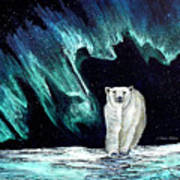Monarch Of His Arctic Domain Print by Dianne Roberson