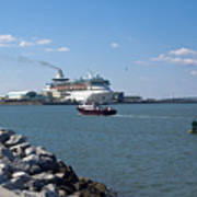 Monarch Of The Seas At Port Canaveral In Florida Art Print