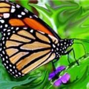 Monarch Swirl 1 Art Print