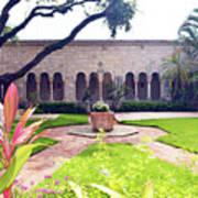 Monastery Of St. Bernard De Clairvaux Garden Art Print