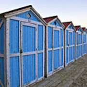 Mondello Beach Cabanas Art Print
