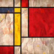 Mondrian Inspired Print by Michael Tompsett