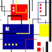 Mondrian Redux Art Print