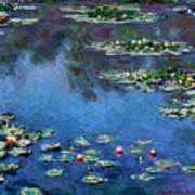Monet: Waterlilies, 1906 Art Print