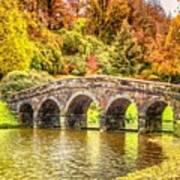 Monetcalia Catus 1 No. 9 - Monet Decides To Paint The Arched Bridge At Stourhead. L A S Art Print