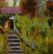Monet's Garden Cottage Print by Colleen Murphy