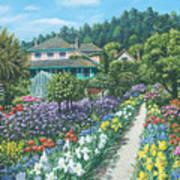 Monet's Garden Giverny Art Print
