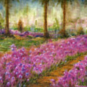 Monet's Garden In Cannes Art Print