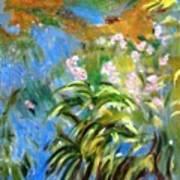Monet's Irises Art Print
