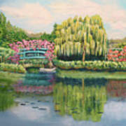 Monet's Summer Garden No.2 Art Print