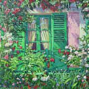 Monet's Window Art Print