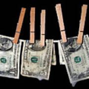 Money Laundering Art Print