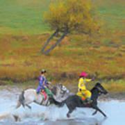 Mongolian Rider Art Print