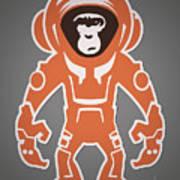 Monkey Crisis On Mars Art Print
