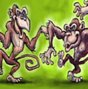 Monkey Dance Art Print