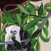 Monkey Detail 2 From Mural Art Print