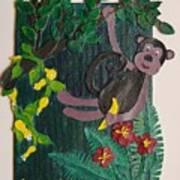 Monkey Swing And Snack Art Print