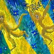 Monkeys And Sunbeams Art Print
