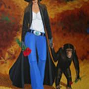 Monkeys Best Friend Art Print by Lance Headlee