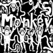 Monkeys Maze For M Art Print