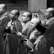 Monks Chanting - Jing'an Temple Shanghai Art Print