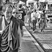 Monks Out And About Art Print