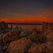 Mono Lake Sunset Art Print