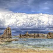 Mono Lake Tufas And Clouds Art Print