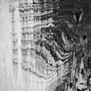 Monochrome Water Art Print