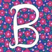 Monogram B Art Print