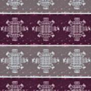 Monogram Qm Plum Wine Slate 2 Art Print