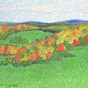 Monongalia County Autumn Art Print