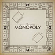 Monopoly Board Patent Vintage Art Print