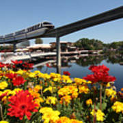 Monorail At Disney's Epcot Art Print
