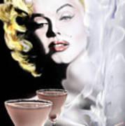 Monroe-seeing Beyond Smoke-n-mirrors Art Print by Reggie Duffie