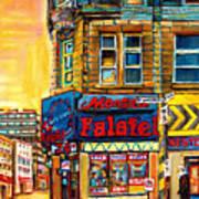 Monsieur Falafel Art Print