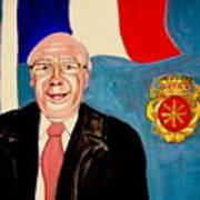 Monsieur Jean Claude Darque. Le Maire De Auchy Les Hesdin Art Print