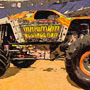 Monster Jam Party In The Pits Art Print