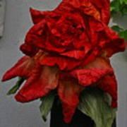 Monster Red Flower Art Print
