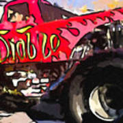 Monster Truck El Diablo Art Print