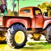 Monster Truck - Grave Digger 1 Art Print