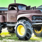 Monster Truck - Grave Digger 3 Art Print