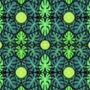 Monstera Leaves Pattern Art Print
