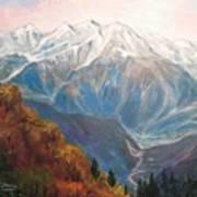 Mont Blanc France Art Print