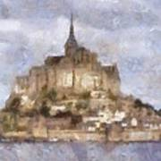 Mont Saint-michel, Normandy, France Art Print