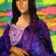 Montage Mona Lisa Art Print