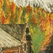 Montain Hide Out Art Print