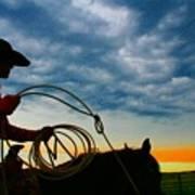 Montana Cowgirl ... Montana Art Photo Art Print