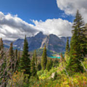 Montana-glacier National Park-grinnell Glacier Trail Art Print