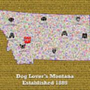 Montana Loves Dogs Art Print